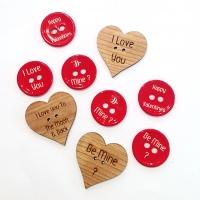 Drevené gombíky, drevené výlisky