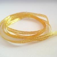 Brokátová stuha 3 mm zlatá