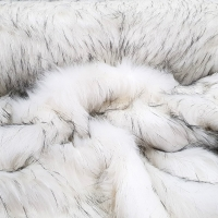 Kožušina umelá - Polárna líška biela - cena za 10 cm