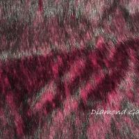 Kožušina umelá - Cyklámenová s čiernym melírom - cena za 10 cm