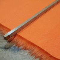 Kožušina umelá - neónovooranžová - cena za 10 cm