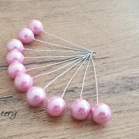 Ozdobný bobuľový zápich - perleťový ružový
