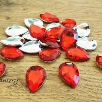 Ozdobné kamienky 13 x 18 mm - Červená