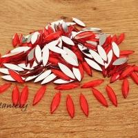 Ozdobné kamienky 4 x 15 mm - Červené