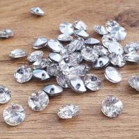 Ozdobné kamienky našívacie rivolky 10 mm - Crystal