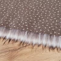 Kožušina umelá - Snow Leopard - cena za 10 cm