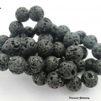Lávové korálky 8 mm - čierne