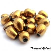 Korálka kvapka 8 x 11 mm - Zlatá