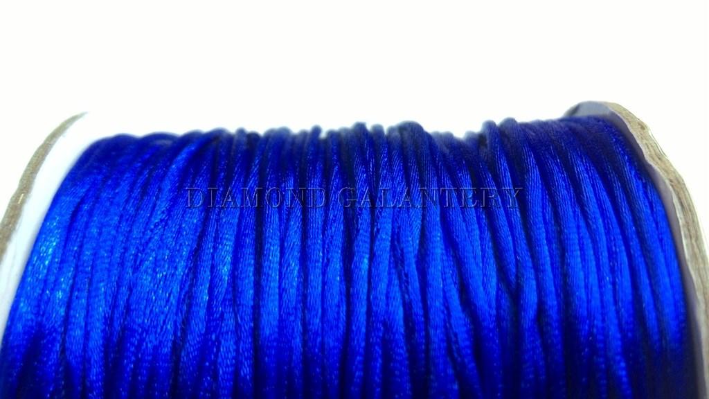 Shamballa šnúrka saténová 1,5 mm - kráľovská modrá