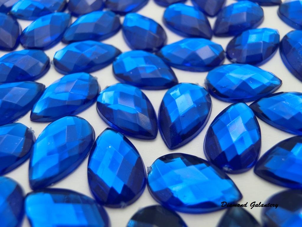 Ozdobné kamienky 8 x 13 mm - Kráľovská Modrá