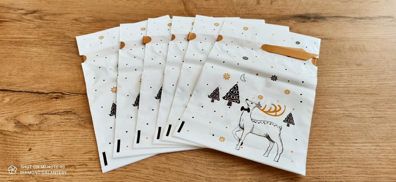 Dekoračné taštičky - Vianočné - 23 x 14,8 cm