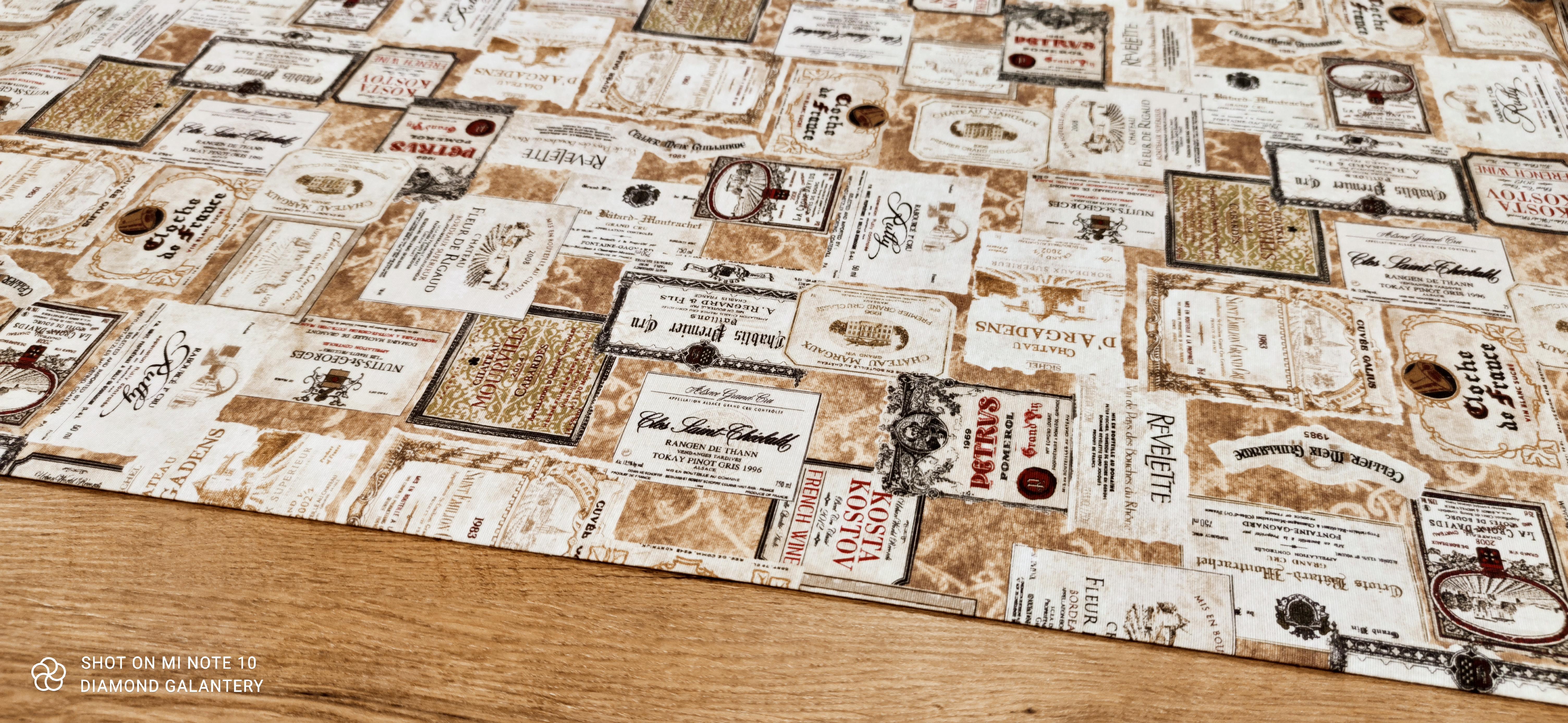 Bavlna režná - Etikety - cena za 10 cm