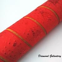 Ozdobná stuha červená s Vianočným motívom