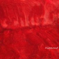 Kožušina umelá - červená s jemným čiernym melírom - cena za 10 cm