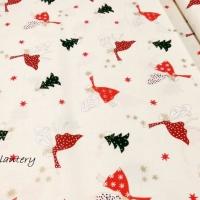 Bavlnená látka - Vianočné víly - cena za 10 cm
