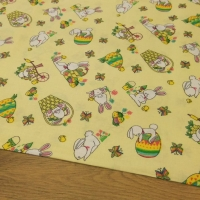 Bavlnená látka - Zajačiky - cena za 10 centimetrov