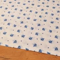 Bavlnená látka - Lístky modré - cena za 10 centimetrov