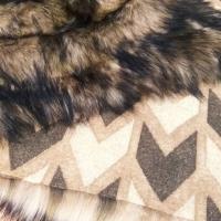 Umelá kožušina - Dark Wild - cena za 10 cm