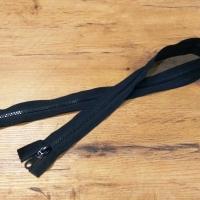 Zips deliteľný - dvojbežcový - čierny 90 cm