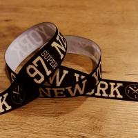 Rypsová stuha 25 mm - New York - Čierna
