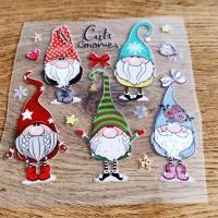 Nažehľovacia nálepka - Cute Gnomes