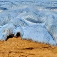 Kožušina umelá - Modrá II - cena za 10 cm