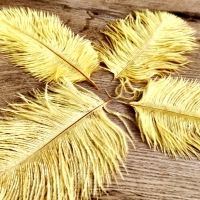 Pierko ozdobné Marabou - 15-20 cm - Žlté