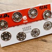 Patent kovový 20 mm - strieborný
