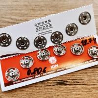 Patent kovový 15 mm - strieborný