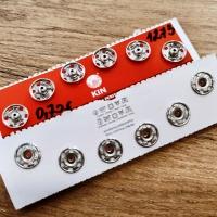 Patent kovový 13 mm - strieborný