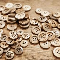 Plastový gombík 25 mm - imitácia dreva
