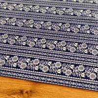 Bavlnená látka - Modrotlač kvety - cena za 10 centimetrov