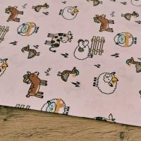 Bavlnená látka - Zvieratka na farme - cena za 10 centimetrov
