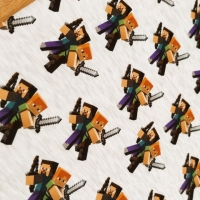 Teplákovina - Minecraft II - cena za 10 centimetrov