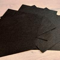 Filc 1 mm - 20 x 20 cm - čierny