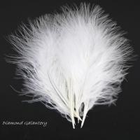 Dekoračné pierka Marabou - biele