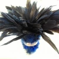 Dekoračné pierka kráľovská modrá