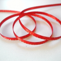 Lurexová stuha 3 mm červená