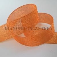 Brokátová stuha 25 mm - oranžová