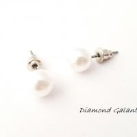 Náušnice perličky 8 mm
