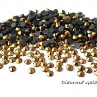 Hot fix 4 mm - zlatý - 100 kusov