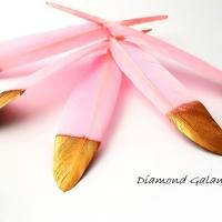 Dekoračné pierka ružovo zlaté