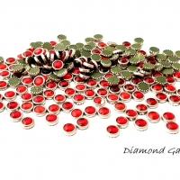 Hot fix ozdobné kamienky - 4 mm - červené