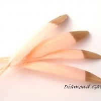 Dekoračné pierka púdrovo ružové