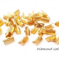Bižutérna koncovka 13 mm zlatá