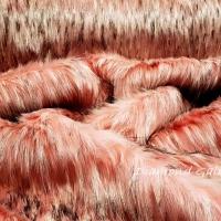 Kožušina umelá - Ružová svetlá melírová - cena za 10 cm
