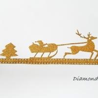 Ozdobná lemovka nalepovacia - Vianočný štýl - zlatý