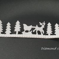 Ozdobná lemovka nalepovacia - Vianočný štýl - biely