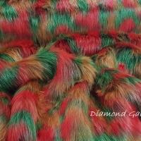 Kožušina umelá - Farebný mix - cena za 10 cm