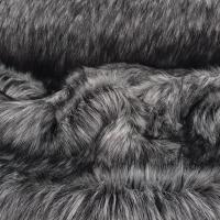 Kožušina umelá - Šedo sivý melír - cena za 10 cm